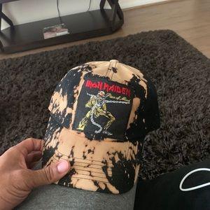 Bleached Iron Maiden hat